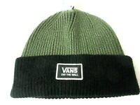 Vans Shoes Mens Falcon Winter Beanie Cap Hat Olive Green Black NWT Free Ship