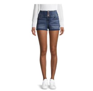 No Boundaries Juniors Corset Jean Short - Size 9, Medium Wash, NWT