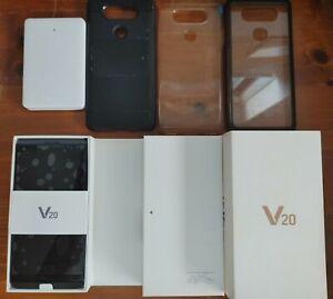 LG V20 H990 DS Dual Sim Unlocked Smartphone - Titan + Accessories
