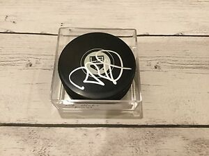 Rob Blake Autographed LA Los Angeles Kings Hockey Puck Signed a