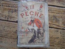 LA PECHE EN EAU DOUCE CONTENANT PRINCIPES PECHE LIGNE POISSONS BLANCHERE 1900