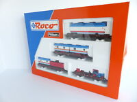 ROCO 44130 COFFRET DE 4 WAGONS PLATS + CHARGEMENT CIRQUE WILLIAMS