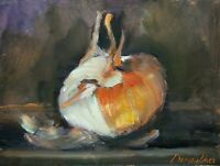 Onion Still Life home decor oil painting 6 x 8 in