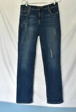 Kut from the Kloth Distressed Jeans Medium Wash Stretch Denim Size 12 EUC