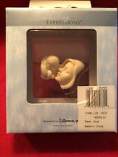 Lasting Expressions by Roman - New Baby and Mother Bisque Glass Display Stand