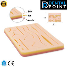 Medical Suture Training Pad 3 Layers of Skin, Fat & Muscle with Pre-Wounds