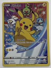 Pikachu SWSH020 Full Art Holo Black Star Promo Pokémon Card Nm-Mint