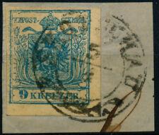 ÖSTERREICH 1850 9Kr, MP, Type III. FRABSTOFFMANGEL! SKOTSCHAU (Sch) Mü:60P!