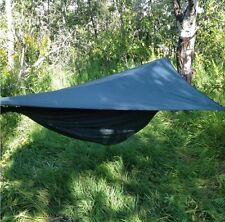 Hammock w/bug netting, rainfly, tree straps, Complete System, Backpacking -GREEN