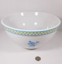 Disney Silhouette Mickey Mouse Ceramic Stoneware Circa 2003 Large Mixing Bowl