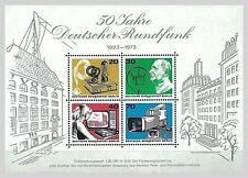 B.2 - BERLIN 50 J.Dt. Rundfunk1973 Mi.455-458 Block4 postfrisch orig. Gummierung