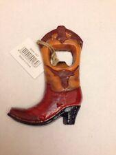 Montana West Cast Iron Bottle Opener - Cowboy Boot Longhorn