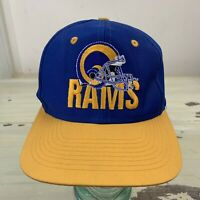 LOS ANGELES RAMS - Vtg 1990s NFL Team Competitor SnapBack Blue & Yellow Hat