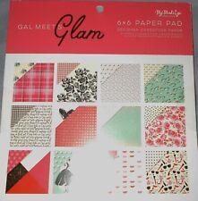 Gal Meets Glam Gold Foil Feminine  6 x 6 My Mind's Eye Paper Pad