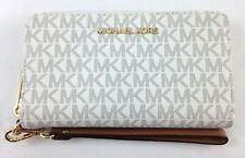 New Michael Kors Jet Set Travel Large Multifunction Phone Case Wallet - Vanilla