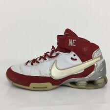Nike Elite Family Red White Leather Trainer Sneaker 318507-991 Men UK 9 Eur 44