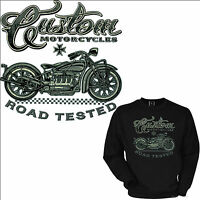 4042 Biker Sweatshirt Motorcycle Custom Garage Vintage Classic Car