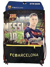 Messi Cinch Bag Sack Fc Barcelona Soccer Book  Backpack Authentic Official
