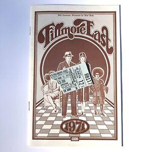 Allman Brothers Live At Fillmore East 3/12/71 Ticket Stub & Program Very Rare!