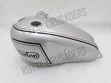 NEW NORTON DOMINATOR MODEL 7 SILVER PAINTED PETROL TANK WITH CAP (REP) (CODE 985