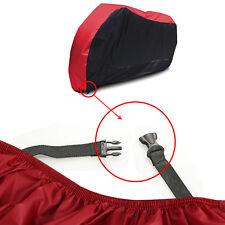 Coprimoto Universale L Nero-Rosso Per Copri Scooter Moto Antighiaccio Telo Cover