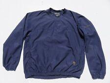 Mens FOOTJOY Navy Blue Pullover Wind Water Golf Sweater Shirt Medium