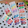 10X Candy Color BB Clips Hairpin Snap Barrettes Hair Kids Women Girl Accessories
