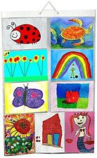Picture Pockets Hanging Photo Frame Holders A4 Size 9 Pockets for Kids Drawings