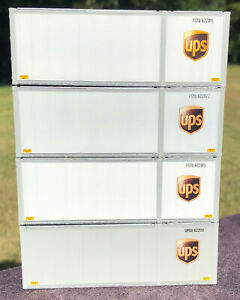 RARE HO SCALE 28' NEW ATHEARN CUSTOM UPS CONTAINERS 28' WHITE UNITED PARCEL 56'