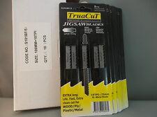 JIG SAW BLADES TruaCuT 10 Cards of 5/Cd 70% Disc