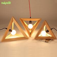 Modern Wooden Chandelier Geometry Ceiling Light Lighting Art Wood Pendant Lamp
