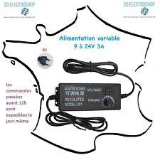 Alimentation variable 9 à 24 volts 3 Ampères 72 Watts power supply