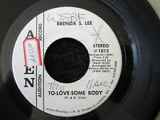 BRENDA S. LEE, To-Love-Some Body WHITE LABEL PROMO USA 45 Bee Gees song