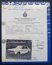 Especificación de carrera de cantante Vogue FIA Rac 1966.