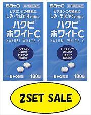SATO HAKUBI WHITE C WHITENING 180 TABLETS x 2SET from Japan