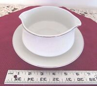 Crown Victoria Lovelace Gravy Boat w/Attached Underplate          623