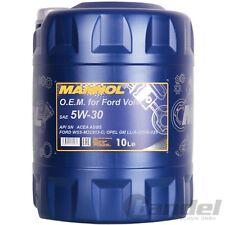 [3,04 €/L] 10 litri SAE 5w-30 MANNOL Olio Motore Ford wss-m2c913-c/VOLVO