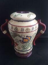 ART Deco Firmata Langham Ware ceramica Lampada da tavolo base GRAFFITO Motivo Floreale