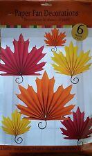 Thanksgiving Fall Autumn Leaf Paper Fan Decoration Seasonal Decor BRAND NEW!