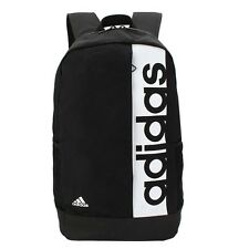 Adidas Linear Backpack Bag Training Rucksack Gym Sports School Black