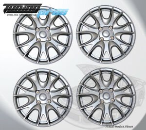 "Pop-On Wheel Rims Skin Cover 15"" Inch Silver Hubcap 15 Inches #533 Qty 4pc"