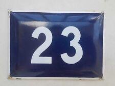 Genuine BIG vintage ISRAELI enamel porcelain number 23 STREET sign # 23 RARE