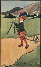 """Hamish Signed Postcard Scottish Walking Dog - """"... O' the Fashion."""""""