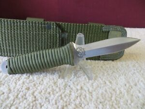 Vintage John EK PG 7 Knife Green Cord Wrap Secret Agent