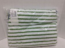 Pottery Barn Kids Jayce Airplane Flying Toddler Bed Quilt stripe chambray