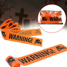 Halloween Skull Party Warning Tape Signs Decoration Window Prop Plaque
