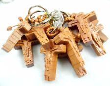 Fashion Creative wood Key Chain Ring cross Keyring Keychain Free Shipping