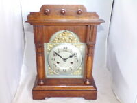 Antique German Black Forest Mantle Clock By Badische Uhrenfabrik, - c1890s.