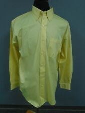 TRAVELSMITH Yellow Cotton Casual Button Down Long Sleeve Shirt Size L DD3273