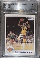 🔥1983-84 Magic Johnson Kareem Abdul-Jabbar STAR #14 BGS 9 w/ 9.5 subs  PSA